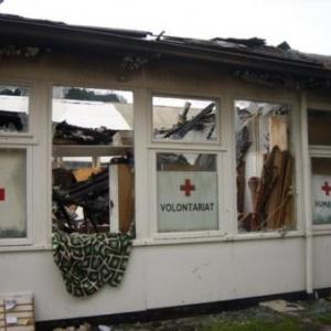 31.08.2008  Un incendie inexplique detruit la Boutique ( Photo J. Blavier )