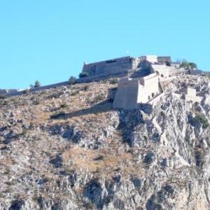 La forteresse Palamede ( venitienne ) de Nauplie (Naflion)