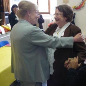 Mme DALEM, felicitee pour ses 55 ans d'activites en faveur de la cause wallonne