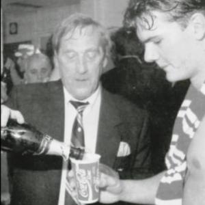 Lucien Levaux avec l'ex-joueur du Standard, Michael Goossens.  S.P