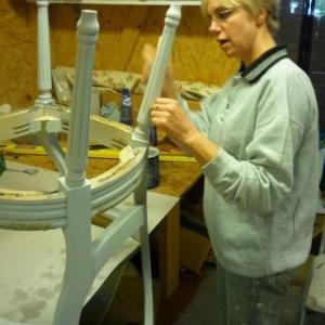Les Garnisseurs reunis : la mise en peinture des elements visibles
