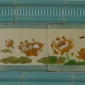 Carrelage decoratif d'une salle de bain