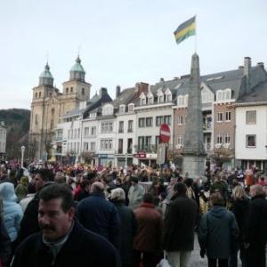 Le public sur la Place Albert 1er