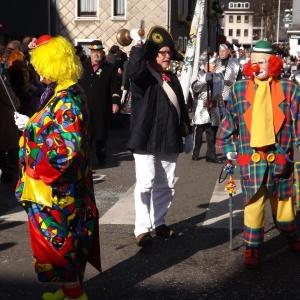 Arthur WEVY et son ami Adolphe Gabriel lors du Carnaval 2016 ( photo F. Detry )