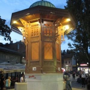 Sarajevo : la place aux Pigeons ( Sebilj )