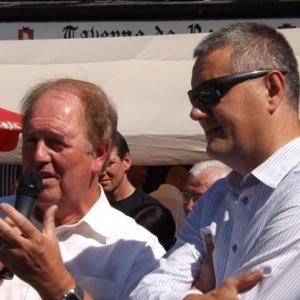 Alain Boulanger, maire de Fleville-devant-Nancy et Olivier Compes, malmedien d'origine