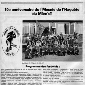 Archives Mesnie 1976  10eme anniversaire