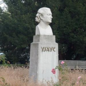 Liege : Buste d'Eugene Ysaye