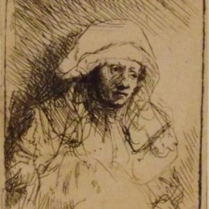 Femme malade avec une grande cape blanche ( Saskia ) ( vers 1641 - 1642 )