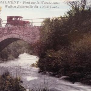 """Pont sur la Warche entre Walk et Robertville dit """" Nou Pont  """""""