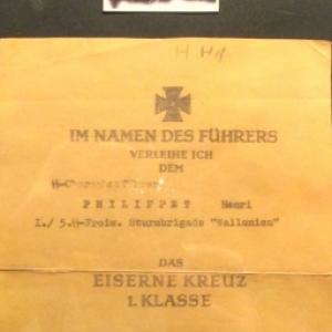 Avis mortuaire pour un soldat wallon mort pour le Fuhrer