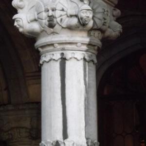 Liege : le Palais des Princes - Eveques ( detail de colonne )
