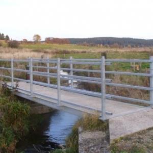 Remplacement de la passerelle sur la Warche entre Honsfeld et Hunningen (AC Bullingen) Apres