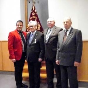 """Reception """" Royale Malmedienne """" en compagnie du President d'Honneur, du President et du Directeur de choeur ( photo de Michael ALMER )"""