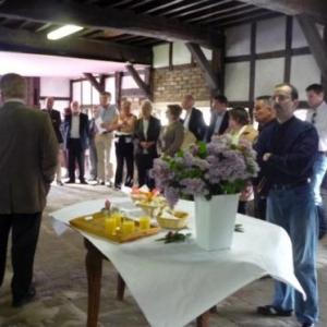 M. Laurent, President de l'ASBL, accueille ses invites