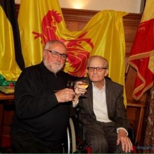 Le pere de ce chanteur et Franz Justin ont fait leur service ensemble a la caserne Mercy de Malmedy ( Photo de Denis Dosquet )