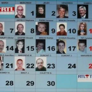 Cases du calendrier 2010 : Francis Rion  ( rue de la Tannerie, 1 Bte 1 a 4960 Malmedy //   tel.: 080 /77 08 85 et 0495 / 77 86 47 ) en versant aussi un minimum de 3 € par photo sur le compte 750 – 6226570 - 07 du Télévie de Malmedy
