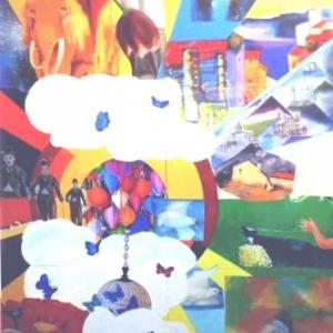 Oeuvre realisee a partir de 18 tableaux d'artistes de l'Atlier d'Igor /  Laureat du concours N'atur'elle 2014 organise par la Jeune Chambre du Commerce de Malmedy - Hautes Fagnes