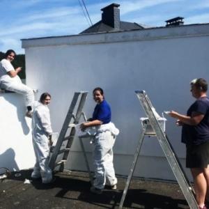 Le Foyer Malmedien : peinture de garages