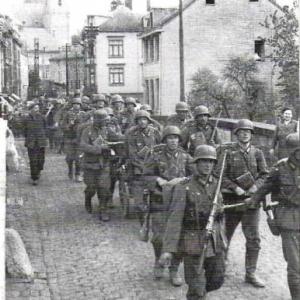 Les Allemands a Malmedy ( Photo de F. Freches)
