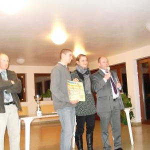 Lierneux. Le mérite sportif 2007 - 2008 attribué à François Sevrin.