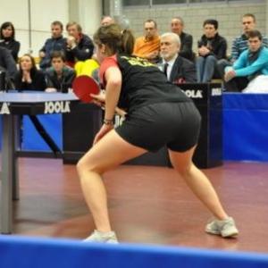 Blegny. Tennis de table. Ligue européenne dames.