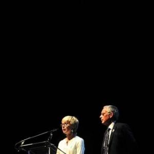 Nicole Gillet et Jean-Louis Close, respectivement deleguee generale et president du Festival Copyright Simon Van Cauteren