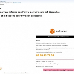 Attention mail frauduleux