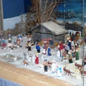 3=Village de santons sous la neige