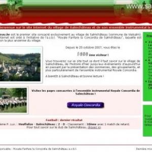 Page d'accueil du site www.salmchateau.be