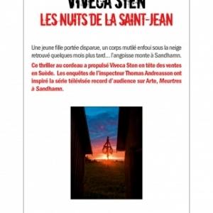 Les nuits de la Saint Jean de Viveca Sten   Albin Michel.