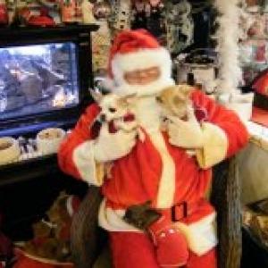 kenza et nina avec papa Noel,les chichis de carinne de Eghezee