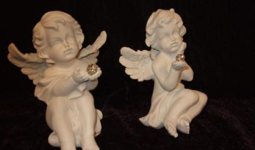 Ange, cupidon, ange porte photo, ange porte bonheur