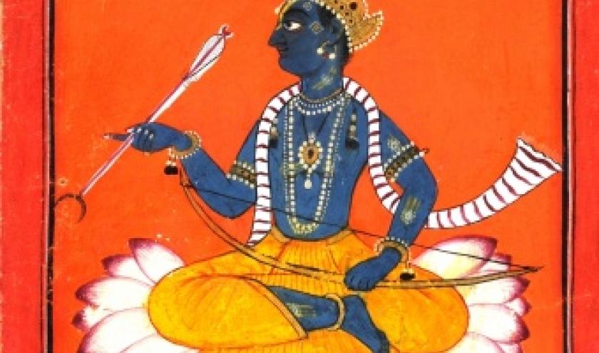 Portret van Rama, Basohli-stijl, Pahari, ca. 1730