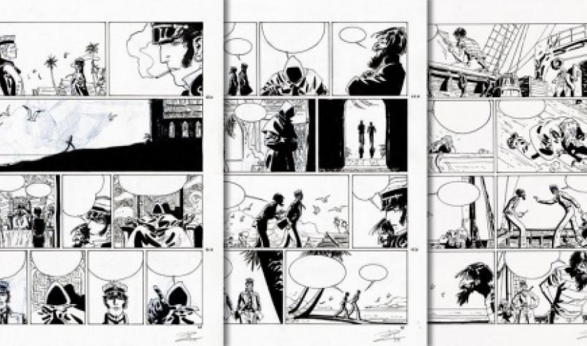 Planches originales, a l encre de chine, signees (c) Ruben Pellejero, 2020
