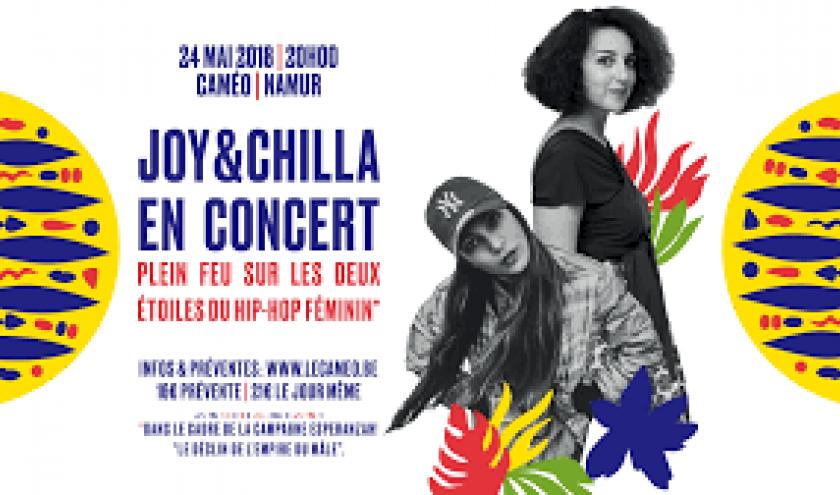 Concerts de « Joy » et de « Chilla », au « Caméo », à Namur, ce 24 Mai