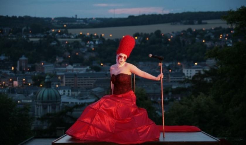 """Marie-Noelle Hebrant, co-fondatrice du """"Theatre Jardin Passion"""", une saisissante """"Marie Tudor"""" (c) Marc Antoine"""