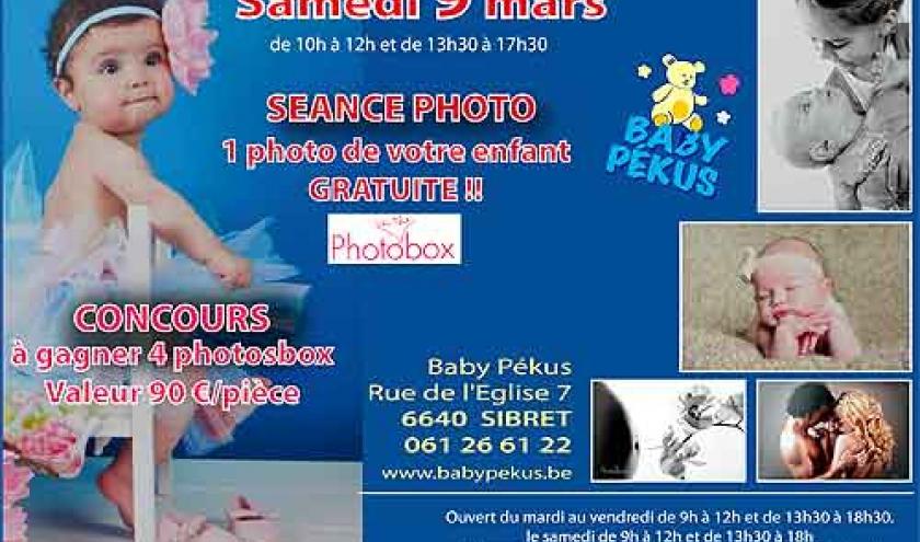 photosbox photo gratuite de votre enfant chez Baby PEKUS