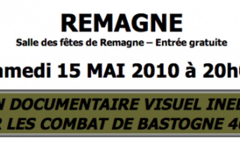 Un documentaire audio visuel sur les Combats de Bastogne 44-45  Remagne ,Libramont