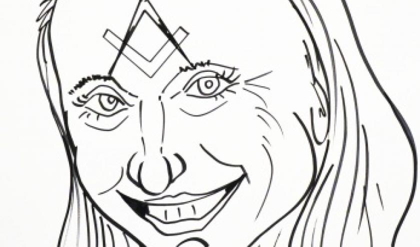 caricature  Emmanuelle Praet