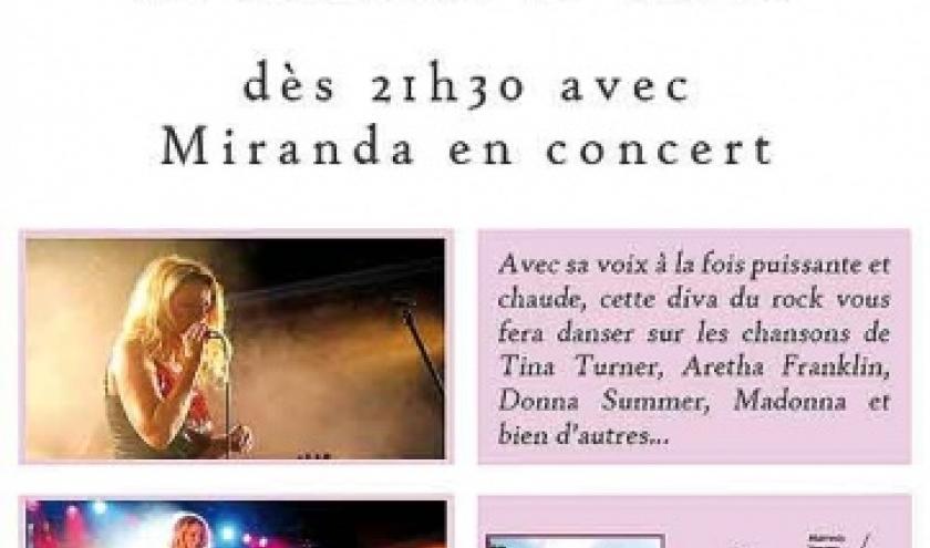 La chanteuse Miranda en concert