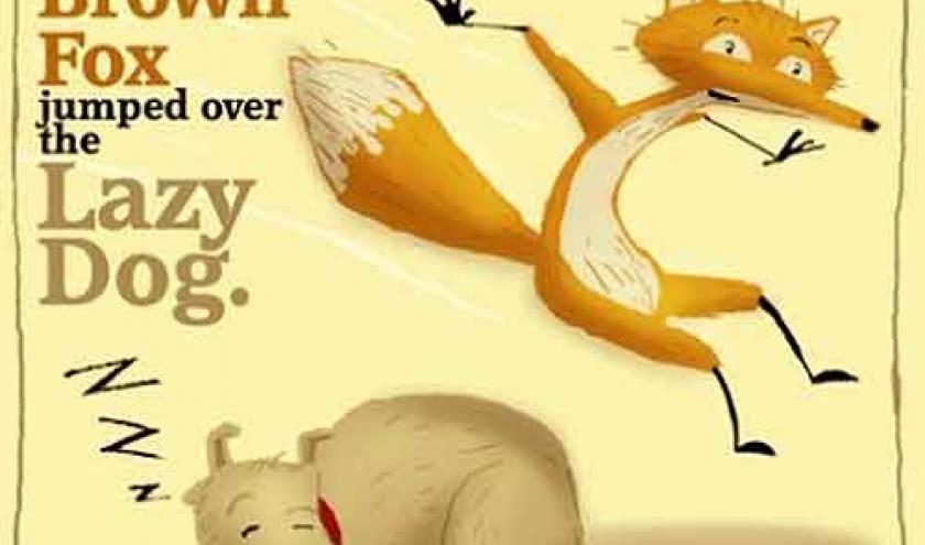Le renard vif et le chien paresseux