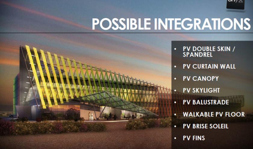 Verre photovoltaïque pour les bâtiments