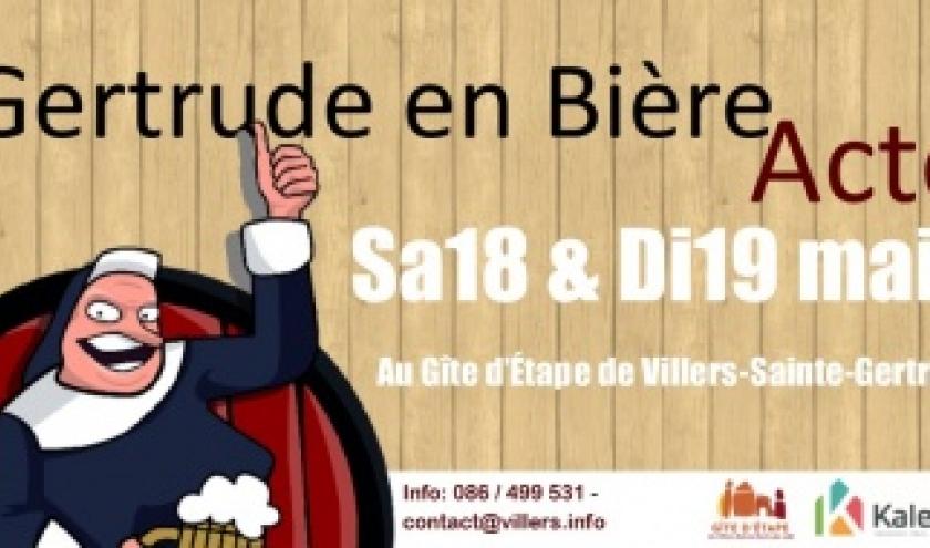 GERTRUDE EN BIERE. Festival brassicole familial