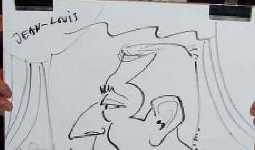 Caricature Lexus au Grand Garage Luxembourg-8700