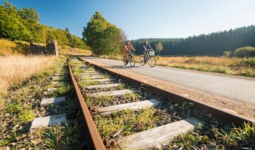 Les Allemands considèrent la Vennbahn comme un de leurs sentiers cyclables préférés à l'étranger!