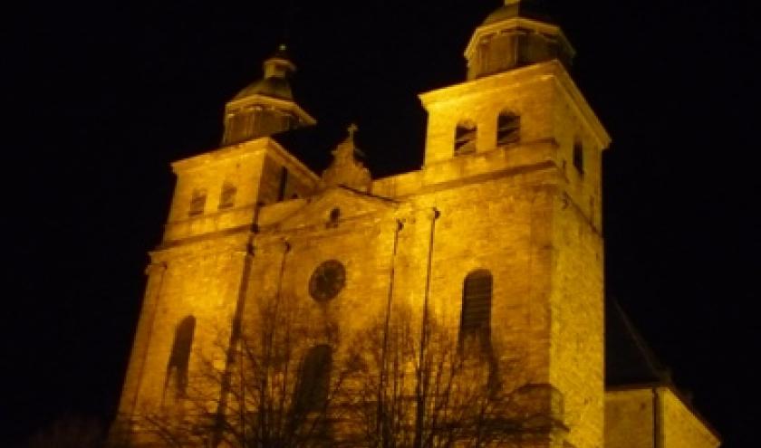 La Cathedrale de Malmedy dans la nuit