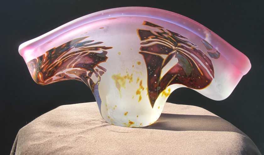 Jardinière en cristal de Louis Leloup