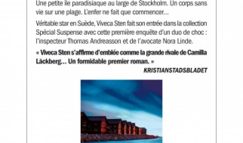 La reine de la Baltique de Viveca Sten  Editions Albin Michel.