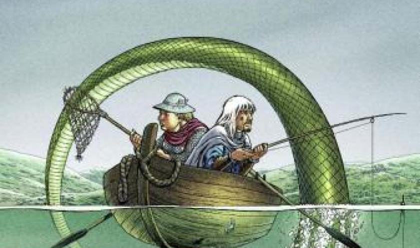 Kaamelott (T5) - Le Serpent Géant Du Lac De L'Ombre, A. Astier & S. Dupré – Casterman.